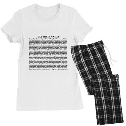 Say Their Names Women's Pajamas Set Designed By Redline77