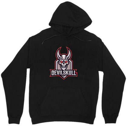 Devil Skull Unisex Hoodie Designed By Estore