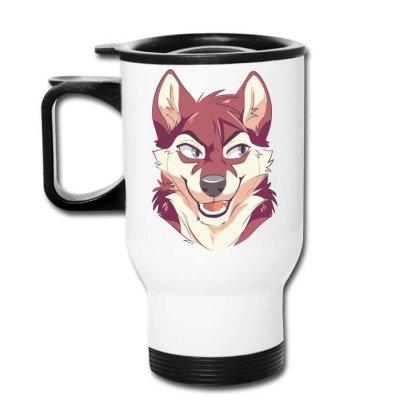 Wolf Cartoon Travel Mug Designed By Estore