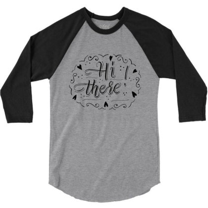 Typography Text Art T Shirts 3/4 Sleeve Shirt Designed By Chiks