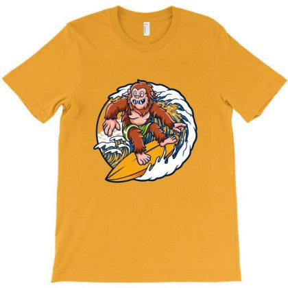 Saquatch Surf T-shirt Designed By Acoy