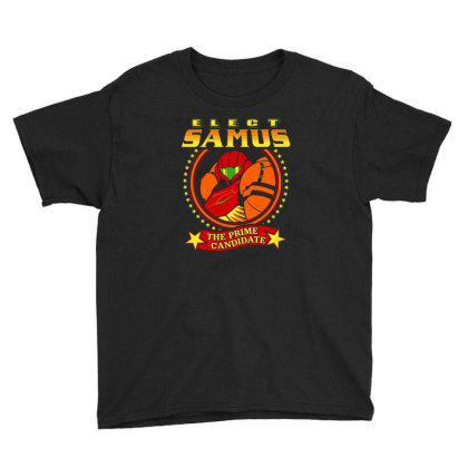 Elect Samus   The Prime Candidate Youth Tee Designed By Teresa