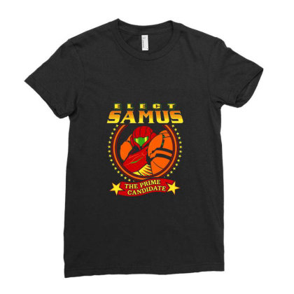 Elect Samus   The Prime Candidate Ladies Fitted T-shirt Designed By Teresa