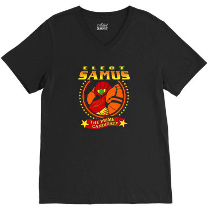 Elect Samus   The Prime Candidate V-neck Tee Designed By Teresa