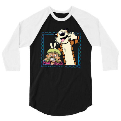Exotic Joe And Tiger 3/4 Sleeve Shirt Designed By Teresa
