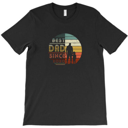 Vintage Best Dad Since 2020 Tshirt Gift From Family Sons Daughters T-shirt Designed By Min'snd