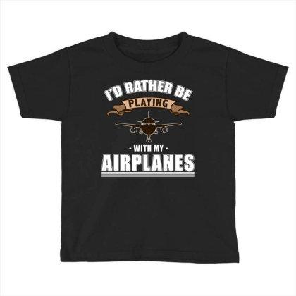 Model Aircraft, Model Flight, Flying Toddler T-shirt Designed By Cuser2870