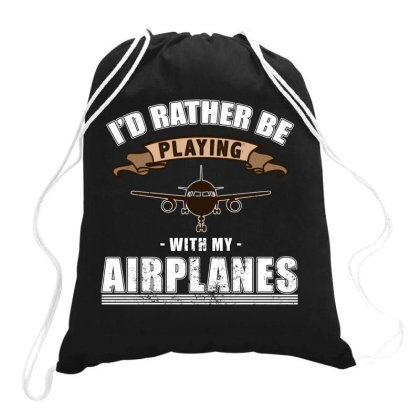 Model Aircraft, Rc, Remote Drawstring Bags Designed By Cuser2870