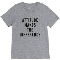 attitude makes difference V-Neck Tee | Artistshot