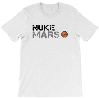 Nuke Mars   Black T-shirt Designed By Meza Design