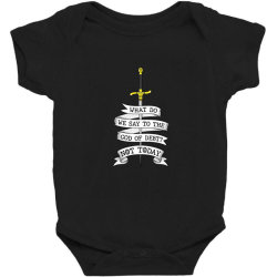 What do we say to the god of Debt? Baby Bodysuit | Artistshot
