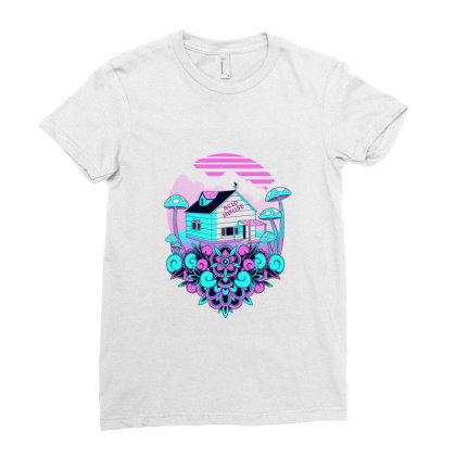 Acid House Ladies Fitted T-shirt Designed By Godzillarge