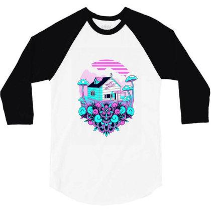 Acid House 3/4 Sleeve Shirt Designed By Godzillarge