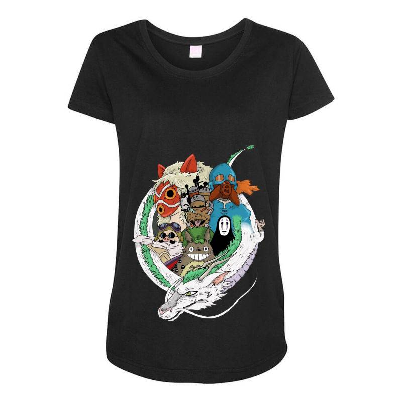 Studio Ghibli Maternity Scoop Neck T-shirt | Artistshot
