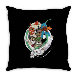 studio ghibli Throw Pillow | Artistshot