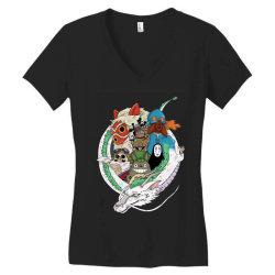 studio ghibli Women's V-Neck T-Shirt | Artistshot
