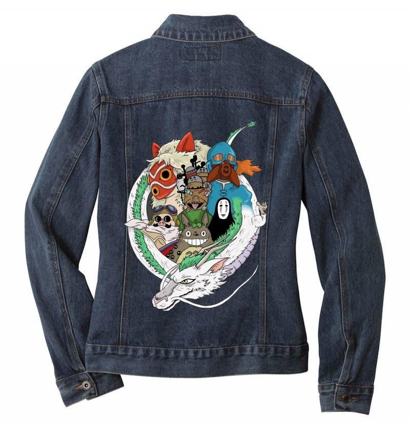 Studio Ghibli Ladies Denim Jacket   Artistshot