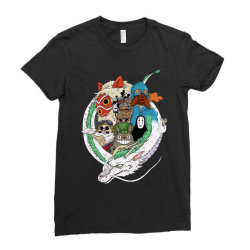 studio ghibli Ladies Fitted T-Shirt | Artistshot