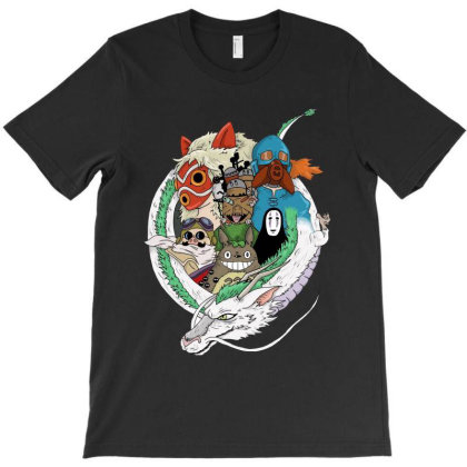 Studio Ghibli T-shirt Designed By Mazikos