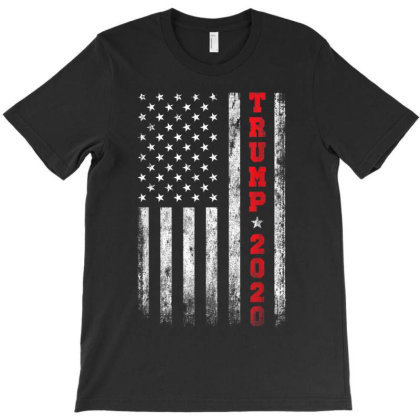 Trump 2020 American Flag Vintage T-shirt Designed By Amber Petty