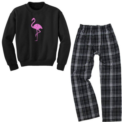 Pink Flamingo Youth Sweatshirt Pajama Set Designed By Qudkin