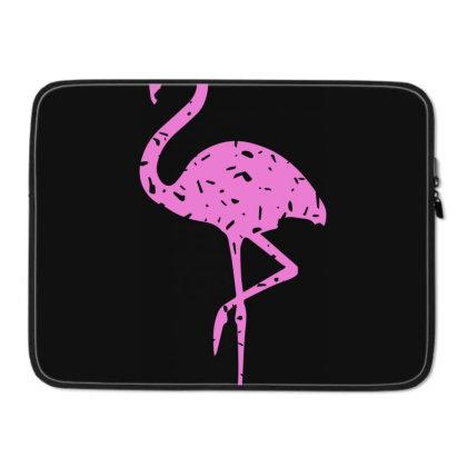 Pink Flamingo Laptop Sleeve Designed By Qudkin
