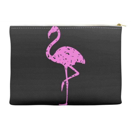 Pink Flamingo Accessory Pouches Designed By Qudkin