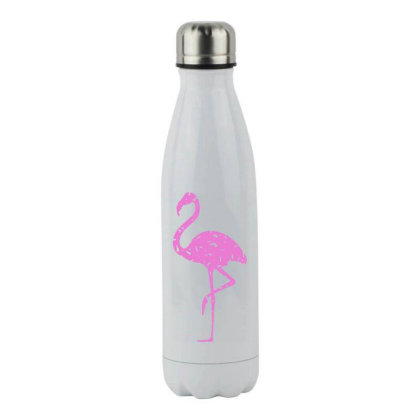 Pink Flamingo Stainless Steel Water Bottle Designed By Qudkin