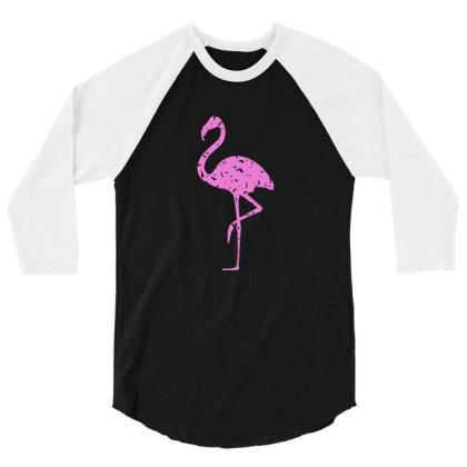 Pink Flamingo 3/4 Sleeve Shirt Designed By Qudkin