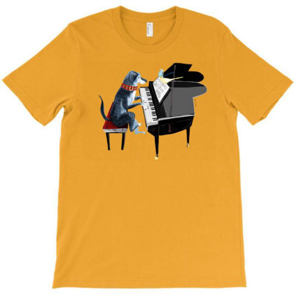 Piano Lesson With Angel T-shirt Designed By Belettelepink