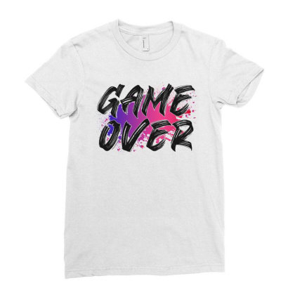 Game Over For Light Ladies Fitted T-shirt Designed By Sengul
