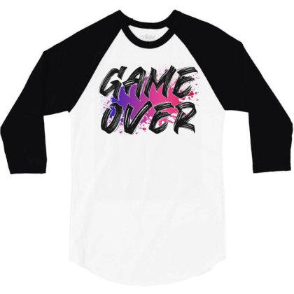 Game Over For Light 3/4 Sleeve Shirt Designed By Sengul