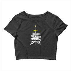 What do we say to the god of Debt? Crop Top | Artistshot
