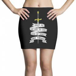 What do we say to the god of Debt? Mini Skirts | Artistshot