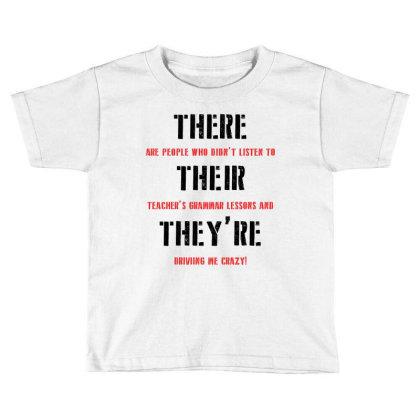 Funny Teacher Grammar Lesson | Black Toddler T-shirt Designed By Lawrensia