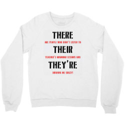 funny teacher grammar lesson | black Crewneck Sweatshirt | Artistshot