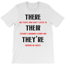 funny teacher grammar lesson | black T-Shirt | Artistshot