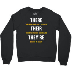 funny teacher grammar lesson Crewneck Sweatshirt | Artistshot