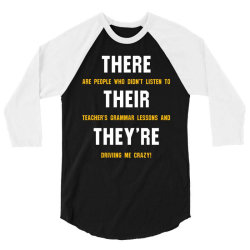 funny teacher grammar lesson 3/4 Sleeve Shirt | Artistshot