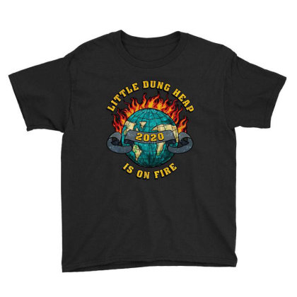 Little Dung Heap Is On Fire Youth Tee Designed By Yay Store