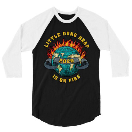 Little Dung Heap Is On Fire 3/4 Sleeve Shirt Designed By Yay Store
