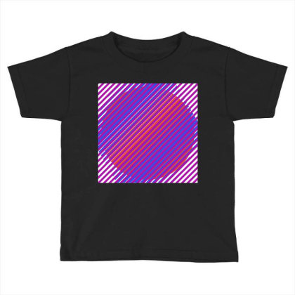 Gradient Colourful Lines Art Toddler T-shirt Designed By American Choice
