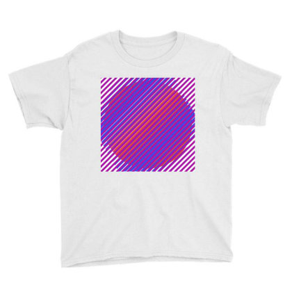 Gradient Colourful Lines Art Youth Tee Designed By American Choice