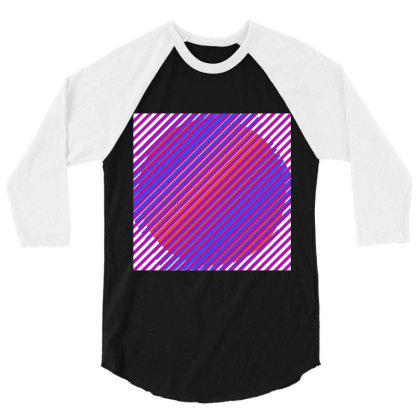 Gradient Colourful Lines Art 3/4 Sleeve Shirt Designed By American Choice