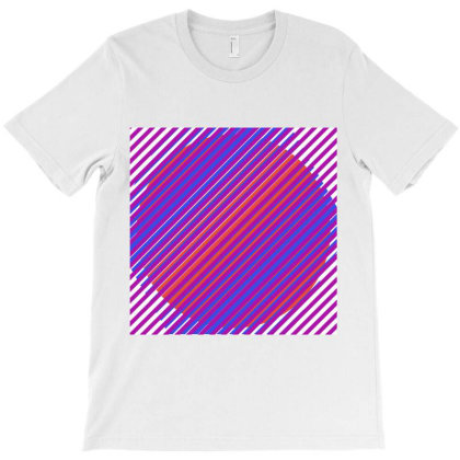 Gradient Colourful Lines Art T-shirt Designed By American Choice