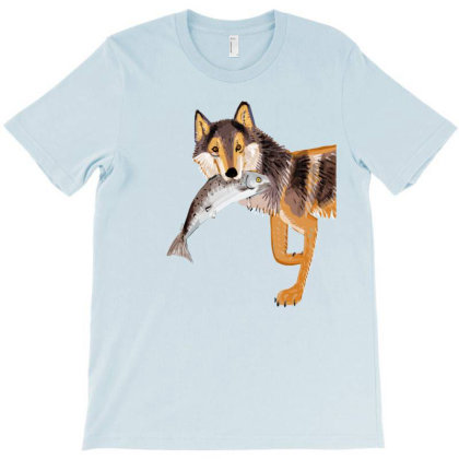 Totem Coastal Wolf T-shirt Designed By Belettelepink