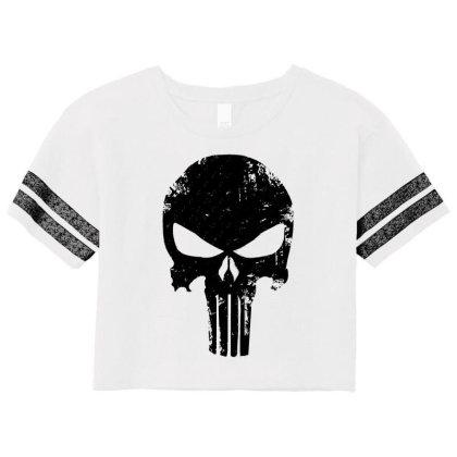 The Punisher Skull Black Scorecard Crop Tee Designed By Constan002
