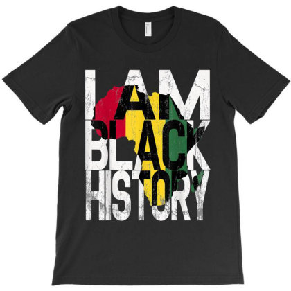 I Am Black History Month African American Pride T-shirt Designed By Amber Petty