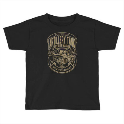 Artillery Tank Toddler T-shirt Designed By Rulart