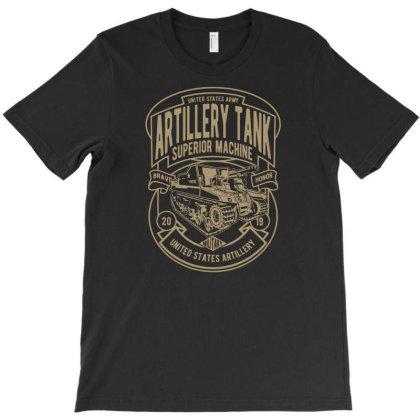 Artillery Tank T-shirt Designed By Rulart
